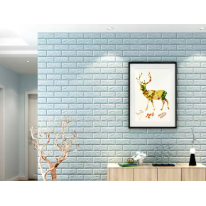 Самоклеящаяся декоративная 3D панель «Кирпич» 7 мм #2 бирюзовая - изображение 3 - интернет-магазин tricolor.com.ua