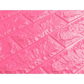 Самоклеящаяся декоративная 3D панель «Кирпич» 7 мм #6 темно-розовая - изображение 2 - интернет-магазин tricolor.com.ua