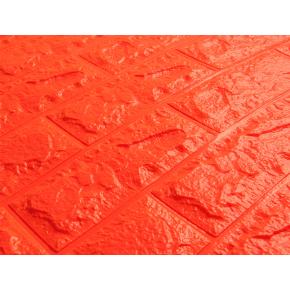 Самоклеящаяся декоративная 3D панель «Кирпич» 7 мм #7 оранжевая - изображение 2 - интернет-магазин tricolor.com.ua