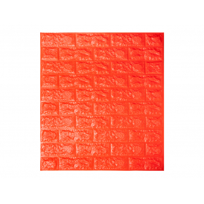 Самоклеящаяся декоративная 3D панель «Кирпич» 7 мм #7 оранжевая - интернет-магазин tricolor.com.ua