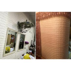 Самоклеящаяся декоративная 3D панель «Кирпич» 7 мм #9 бежевая - изображение 5 - интернет-магазин tricolor.com.ua