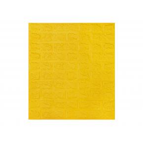 Самоклеящаяся декоративная 3D панель «Кирпич» 7 мм #10 желтая - интернет-магазин tricolor.com.ua