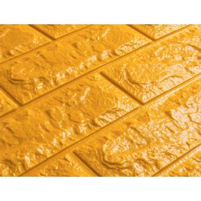 Самоклеящаяся декоративная 3D панель «Кирпич» 7 мм #11 золотая - изображение 2 - интернет-магазин tricolor.com.ua