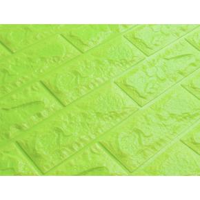 Самоклеящаяся декоративная 3D панель «Кирпич» 7 мм #13 зеленая - изображение 2 - интернет-магазин tricolor.com.ua