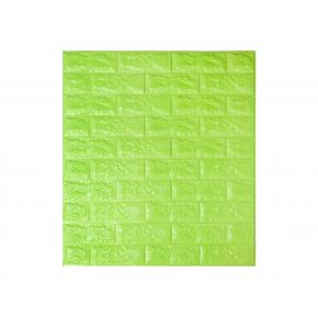 Самоклеящаяся декоративная 3D панель «Кирпич» 7 мм #13 зеленая - интернет-магазин tricolor.com.ua