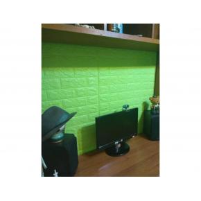 Самоклеящаяся декоративная 3D панель «Кирпич» 7 мм #13 зеленая - изображение 3 - интернет-магазин tricolor.com.ua
