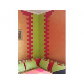 Самоклеящаяся декоративная 3D панель «Кирпич» 7 мм #13 зеленая - изображение 4 - интернет-магазин tricolor.com.ua