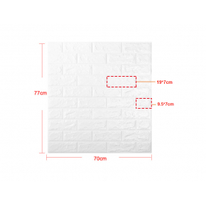 Самоклеящаяся декоративная 3D панель «Кирпич» 7 мм #15 светло-фиолетовая - изображение 4 - интернет-магазин tricolor.com.ua