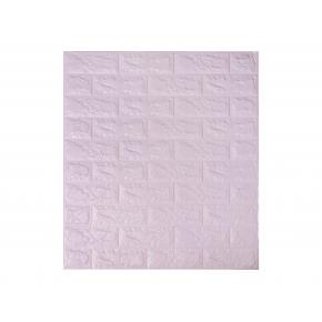 Самоклеящаяся декоративная 3D панель «Кирпич» 7 мм #15 светло-фиолетовая