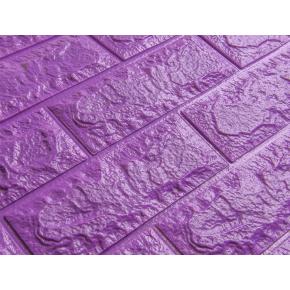 Самоклеящаяся декоративная 3D панель «Кирпич» 7 мм #16 фиолетовая - изображение 2 - интернет-магазин tricolor.com.ua