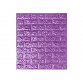 Самоклеящаяся декоративная 3D панель «Кирпич» 7 мм #16 фиолетовая