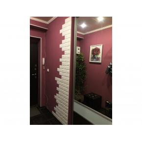 Самоклеящаяся декоративная 3D панель «Кирпич» 7 мм #16 фиолетовая - изображение 3 - интернет-магазин tricolor.com.ua