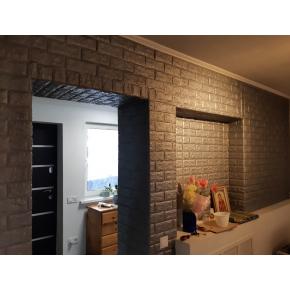 Самоклеящаяся декоративная 3D панель «Кирпич» 7 мм #17 серебряная - изображение 5 - интернет-магазин tricolor.com.ua