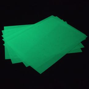 Светящаяся люминесцентная бумага А4 AcmeLight зеленое свечение