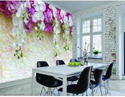 Фотообои Lux Design #1 Цветы бело-сиреневые - изображение 2 - интернет-магазин tricolor.com.ua