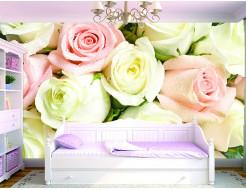 Фотообои Lux Design #2 Розы бело-розовые - изображение 2 - интернет-магазин tricolor.com.ua