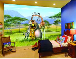 Детские фотообои Lux Design #15 Мадагаскар - изображение 2 - интернет-магазин tricolor.com.ua