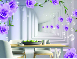 Фотообои Lux Design #21 Розы абстракция - изображение 2 - интернет-магазин tricolor.com.ua