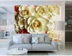 Фотообои Lux Design #22 Белые розы - изображение 2 - интернет-магазин tricolor.com.ua