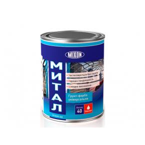 Краска-грунт алкидная Mixon Митал по металлу черная полуматовая