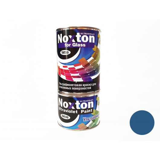 Флуоресцентная краска для стекла NoxTon for Glass темно-синяя