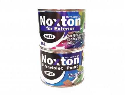 Флуоресцентная краска для наружных работ NoxTon for Exterior белая - интернет-магазин tricolor.com.ua