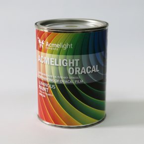 Краска люминесцентная AcmeLight Oracal для шелкотрафаретной печати на твердой поверхности желтая - изображение 3 - интернет-магазин tricolor.com.ua