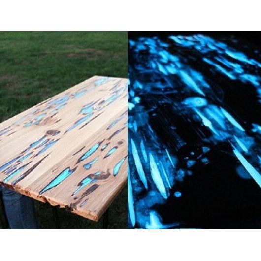 Краска люминесцентная AcmeLight для дерева синяя - интернет-магазин tricolor.com.ua