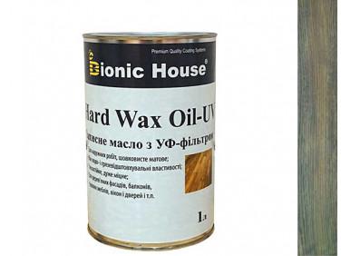 Масло для дерева Bionic House Hard Wax Oil - UV с твердым воском и УФ-защитой Грей