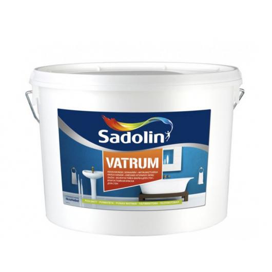 Краска для стен Sadolin Vatrum влагостойкая полуматовая белая