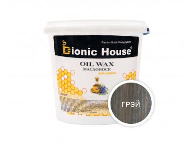 Масло-воск для дерева с пчелиным воском Bionic House в цвете (грэй)