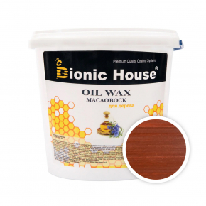 Масло-воск для дерева с пчелиным воском Bionic House в цвете (тик)