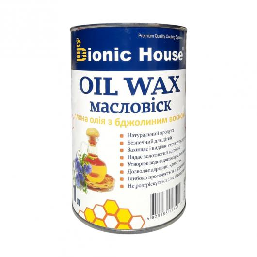 Масло-воск для дерева с пчелиным воском Bionic House в цвете (дуб) - изображение 4 - интернет-магазин tricolor.com.ua