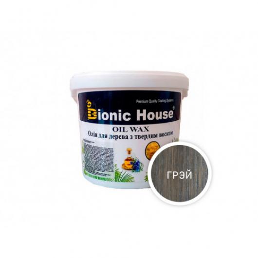 Масло-воск для дерева с карнаубским воском Bionic House в цвете (грэй) - интернет-магазин tricolor.com.ua