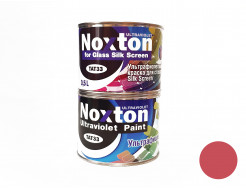 Флуоресцентная краска для стекла NoxTon Silk Screen for Glass красная