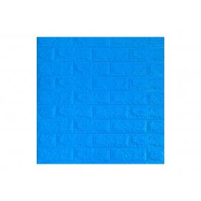 Самоклеящаяся декоративная 3D панель «Кирпич» 7 мм #3 синяя