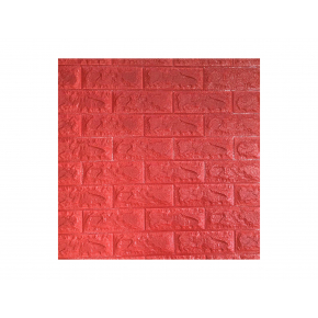Самоклеящаяся декоративная 3D панель «Кирпич» 7 мм #8 красная