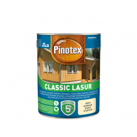 Лазурь фасадная Pinotex Classic Lasur с фунгицидом - интернет-магазин tricolor.com.ua