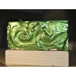 Декоративная краска с эффектом металлик Aurum AtrMetall зеленая бронза - изображение 3 - интернет-магазин tricolor.com.ua