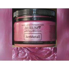 Декоративная краска с эффектом металлик Aurum AtrMetall розовый шелк
