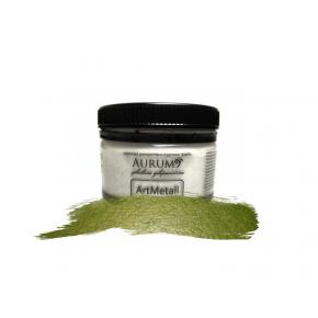 Декоративная краска с эффектом металлик Aurum AtrMetall салатовая