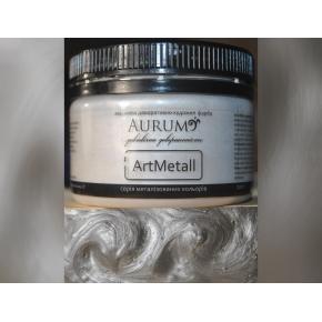 Декоративная краска с эффектом металлик Aurum AtrMetall серебро - интернет-магазин tricolor.com.ua