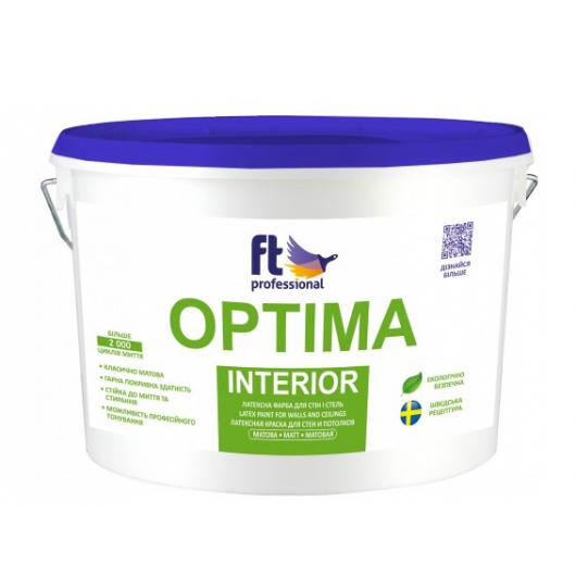 Краска интерьерная FT Pro Optima Interior глубокоматовая база А - интернет-магазин tricolor.com.ua
