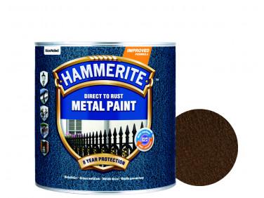 Краска антикоррозийная Hammerite 3 в 1 молотковая Коричневая