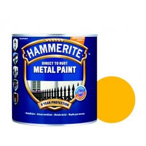 Краска антикоррозийная Hammerite гладкая Желтая - интернет-магазин tricolor.com.ua