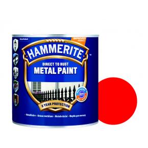 Краска антикоррозийная Hammerite гладкая Красная