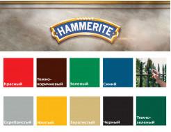 Краска антикоррозийная Hammerite 3 в 1 гладкая Черная полуматовая - изображение 2 - интернет-магазин tricolor.com.ua