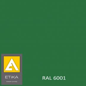 Краска порошковая полиэфирная Etika Tribo Изумрудно-зеленая RAL 6001 матовая