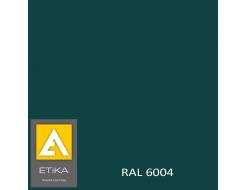 Краска порошковая полиэфирная Etika Tribo Сине-зеленая RAL 6004 шагрень