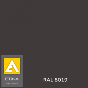 Краска порошковая полиэфирная Etika Tribo Серо-коричневая RAL 8019 шагрень